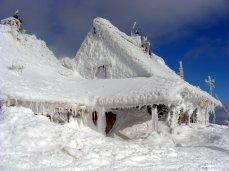 Mountain hut called 'Chatka Puchatka' in Bieszczady mountains
