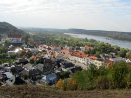Kazimierz Dolny and Vistula viewed from the Hill of the Three Crosses